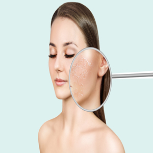 To the skin (Dermatology)